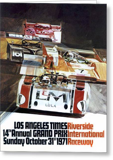 Riverside Can-am Greeting Card by Peter Chilelli