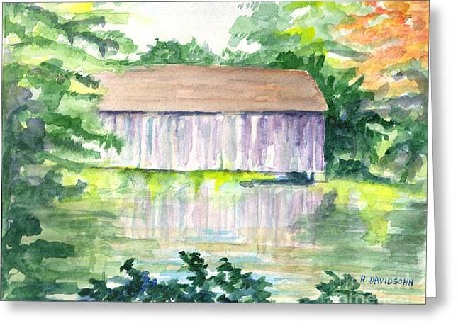 Famous Artist Greeting Cards - Riverside Reflections Greeting Card by Harriet Davidsohn