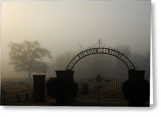 Riverview Cemetery I Greeting Card by Wayne Archer
