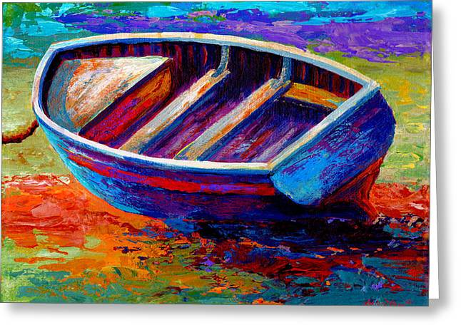 Fishing Boats Greeting Cards - Riviera Boat III Greeting Card by Marion Rose