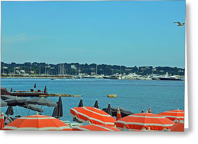 Antibes Greeting Cards - Riviera Style Greeting Card by Corinne Rhode