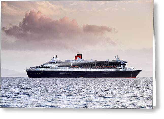 Boat Cruise Greeting Cards - RMS Queen Mary 2 Greeting Card by Grant Glendinning