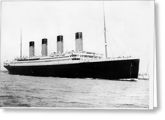 Stored Photographs Greeting Cards - RMS Titanic Greeting Card by War Is Hell Store