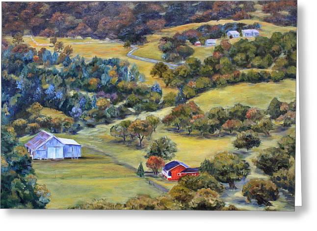 Mountain Road Greeting Cards - Road 200 Greeting Card by Mary Beth Harrison