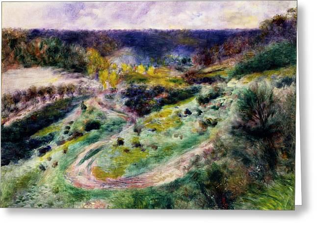 Renoir Greeting Cards - Road at Wargemont Greeting Card by Auguste Renoir