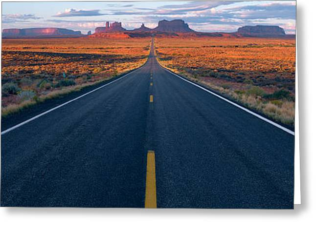Navaho Greeting Cards - Road Az Greeting Card by Panoramic Images
