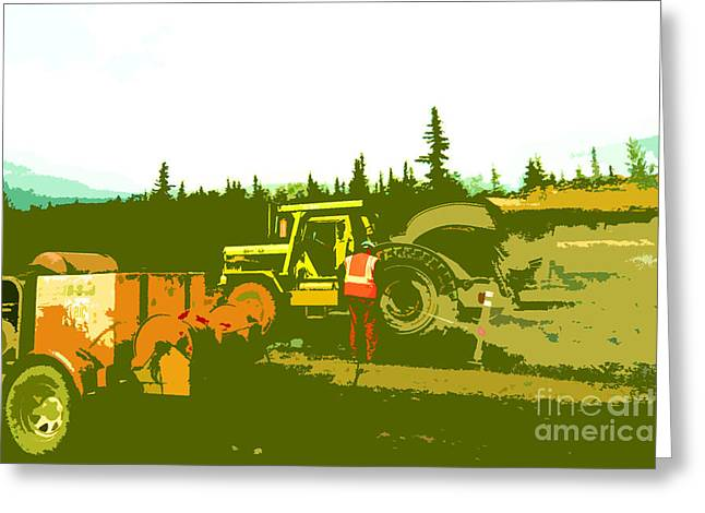 Road Crew Greeting Cards - Road Crew Greeting Card by Chris  Taggart