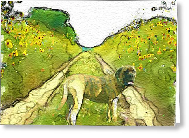 Loose Style Digital Greeting Cards - Road dog Greeting Card by Tim Rampy
