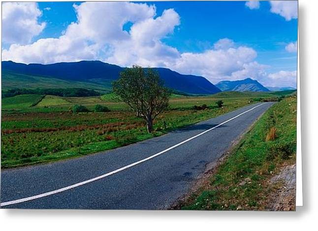 Panoramics Greeting Cards - Road From Westport To Leenane, Co Mayo Greeting Card by The Irish Image Collection