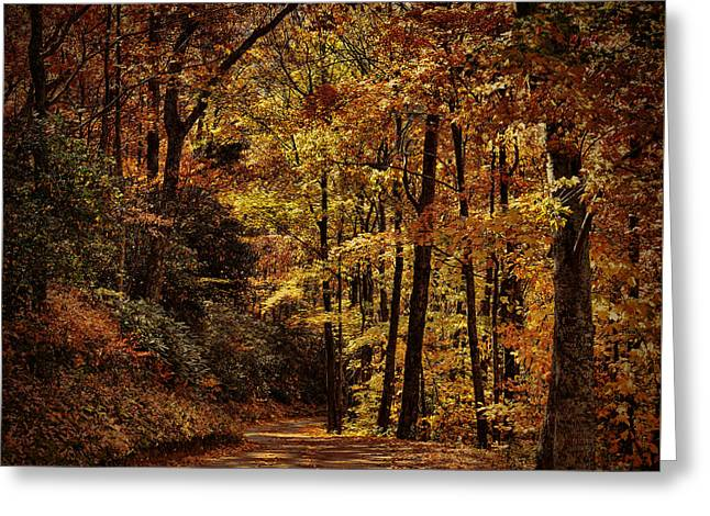 Unique Art Greeting Cards - Road Into Fall Greeting Card by Dave Bosse
