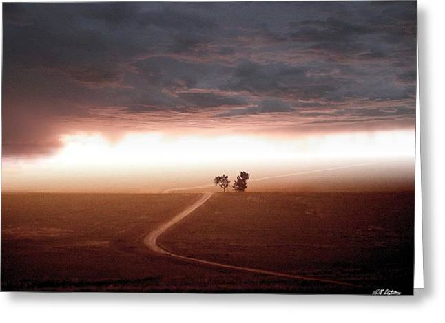 Scenic Mixed Media Greeting Cards - Road Less Traveled Greeting Card by Bill Stephens