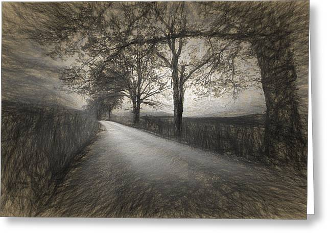 Road Not Traveled Iv Greeting Card by Jon Glaser