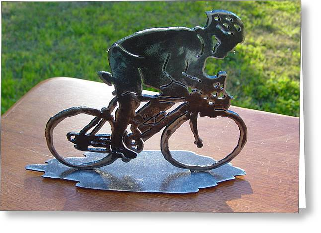 Steel Sculptures Greeting Cards - Road race Greeting Card by Steve Mudge