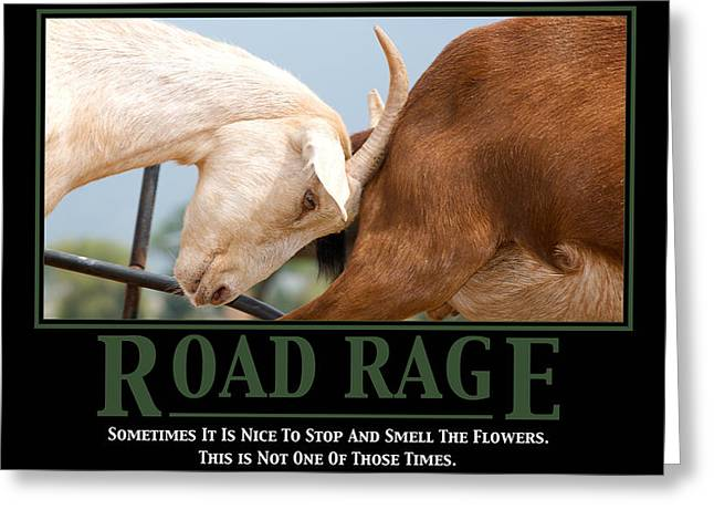 Work Place Greeting Cards - Road Rage Greeting Card by Lisa Knechtel