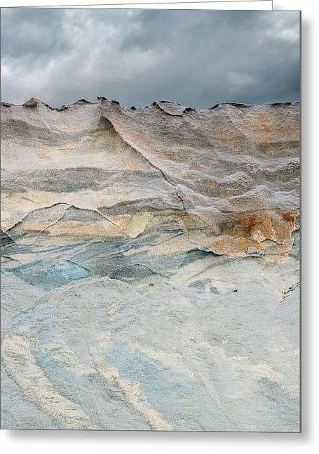 Overcast Day Greeting Cards - Road Salt - Tall Greeting Card by Steven Maxx