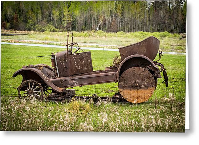 Abandoned Cars Greeting Cards - Road Side Art II Greeting Card by Paul Freidlund