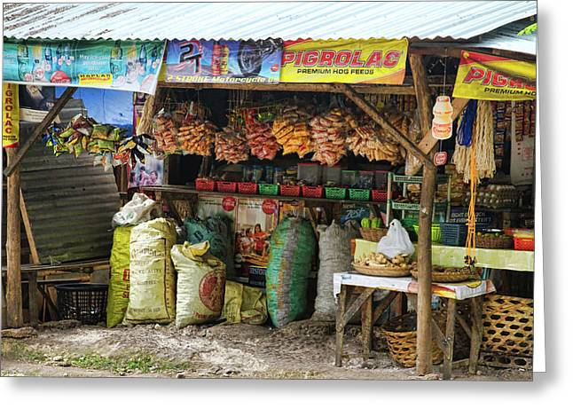 Stock Images Greeting Cards - Road Side Store Philippines Greeting Card by James BO  Insogna