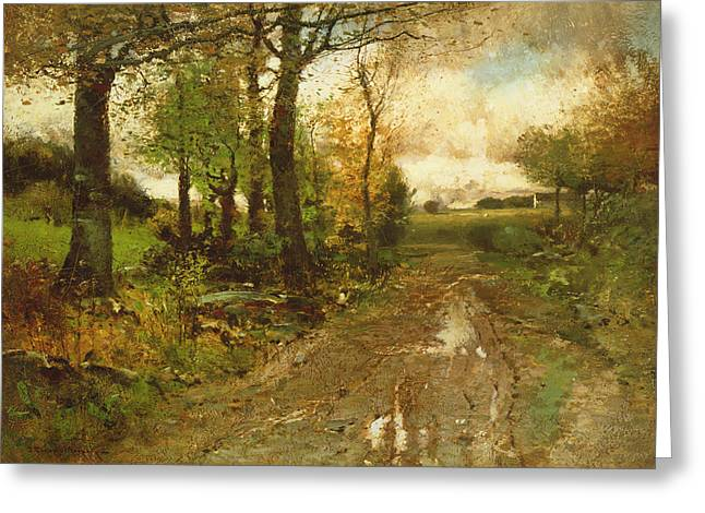 Road Through The Woods Greeting Card by John Francis Murphy