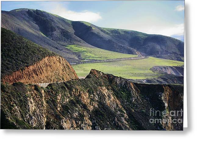 Ocean Images Greeting Cards - Road to Big Sur Greeting Card by Chuck Kuhn