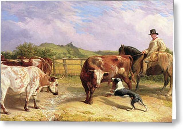 Road To Gloucester Fair Greeting Card by Briton Riviere