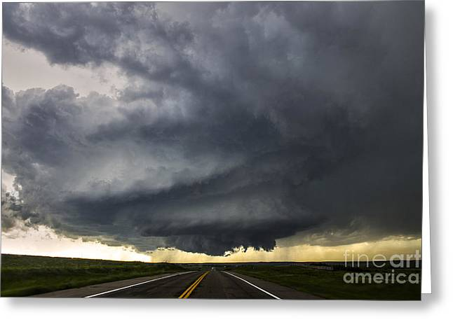 Severe Weather Greeting Cards - Road to Meso Greeting Card by Francis Lavigne-Theriault