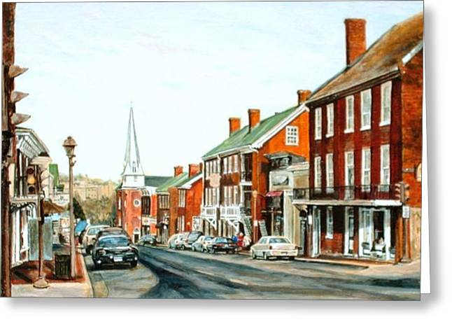 Vmi Greeting Cards - Road to Messina Greeting Card by Thomas Akers