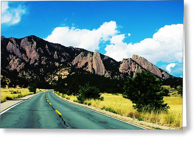 Road To Ncar Greeting Card by Marilyn Hunt