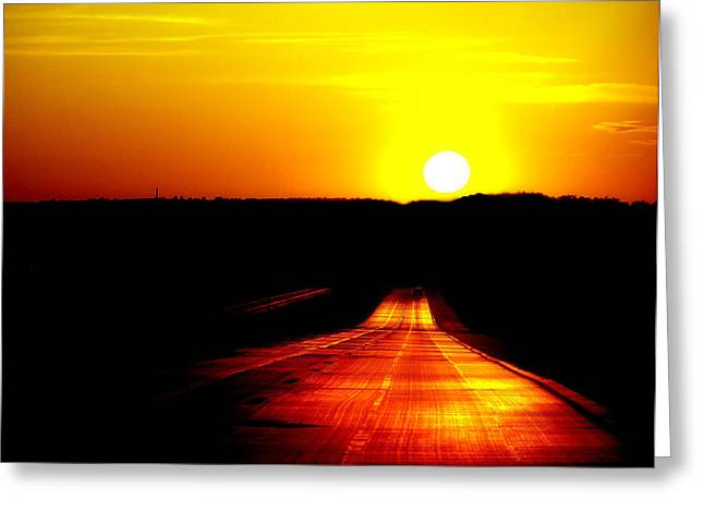 Colorful Photography Greeting Cards - Road to Nowhere Greeting Card by Karen M Scovill