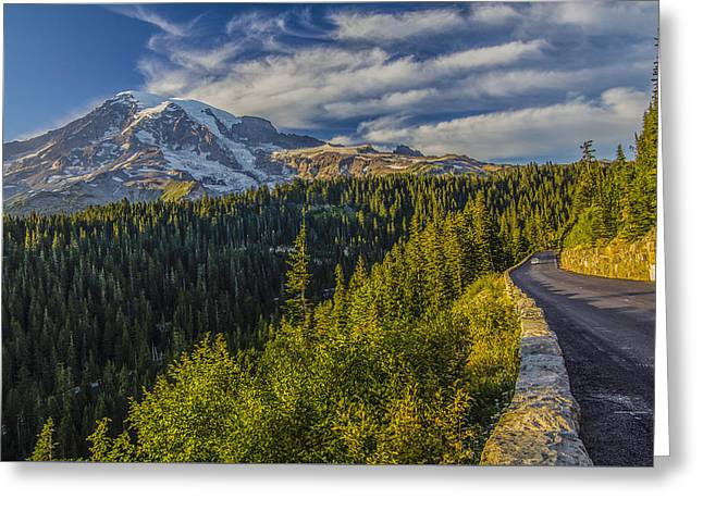 Road To Paradise Greeting Card by Doug Scrima