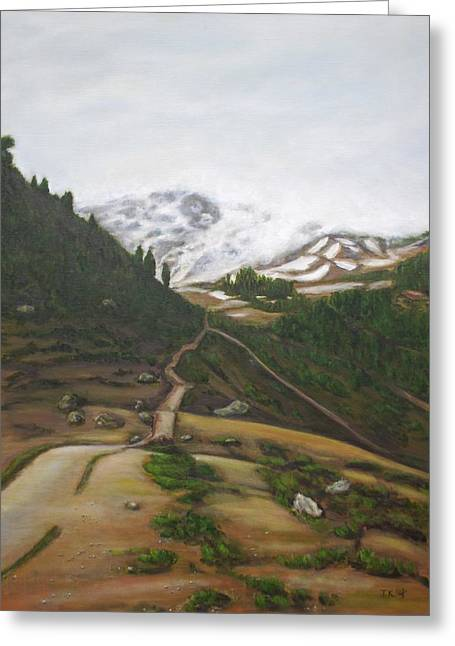 Paradise Road Paintings Greeting Cards - Road to Paradise Greeting Card by Jennifer Kwon