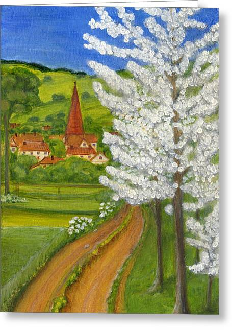 Polscy Malarze Greeting Cards - Road to Schollkrippen Greeting Card by Anna Folkartanna Maciejewska-Dyba