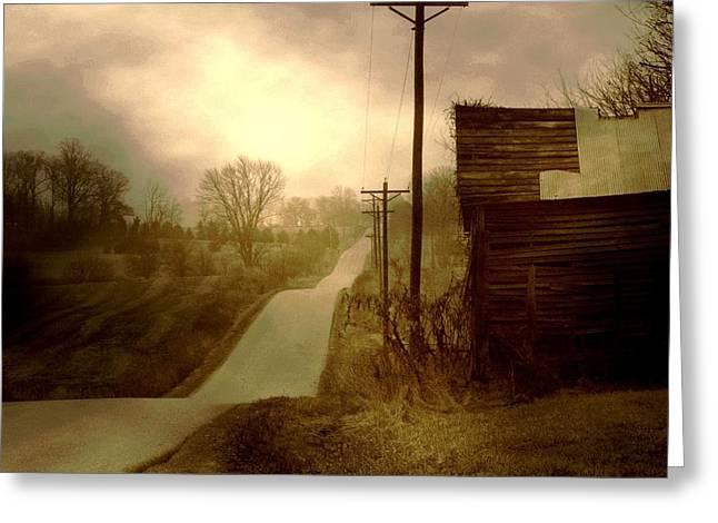 Lanscape Greeting Cards - Road to Smalley Lake Greeting Card by Michael L Kimble