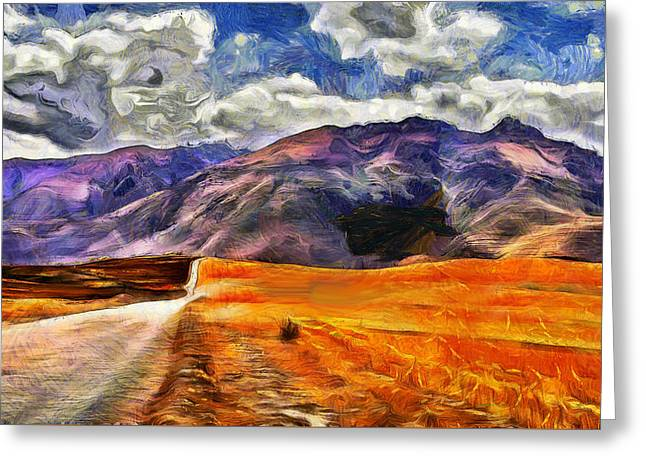 Mountain Road Greeting Cards - Road to the Andes Greeting Card by Jean-Marc Lacombe