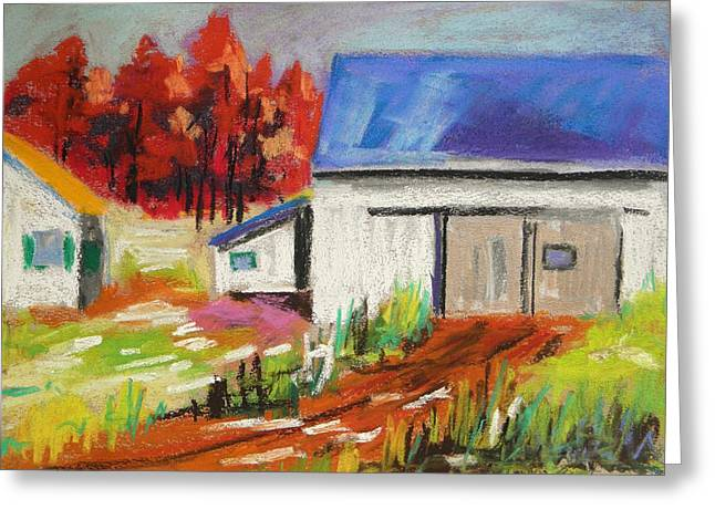 Barn Door Pastels Greeting Cards - Road to the Barn Greeting Card by John  Williams