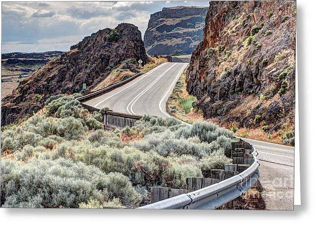 Scenic Drive Greeting Cards - Road Trip Out West Greeting Card by   FLJohnson Photography