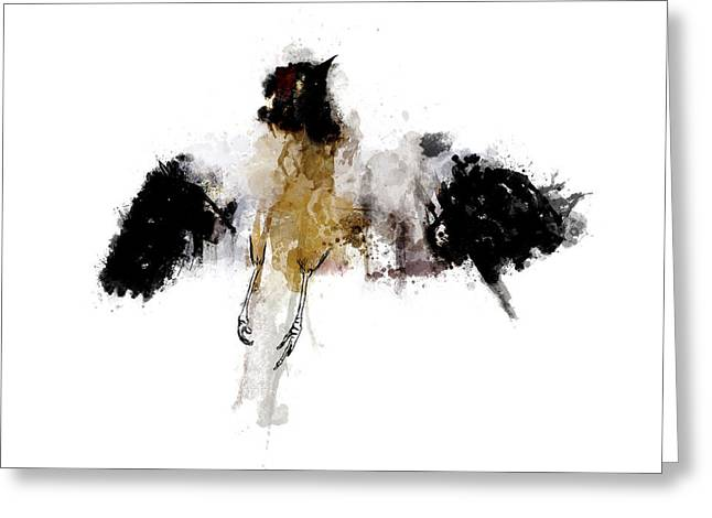 Colours Mixed Media Greeting Cards - Roadkill a Mockingbird Greeting Card by Nicholas Ely