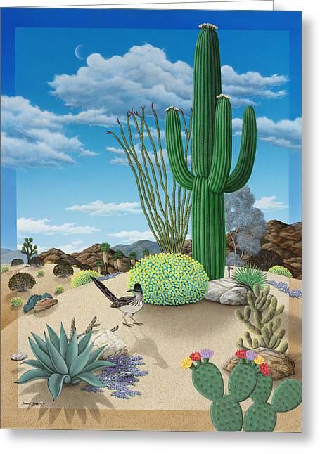 Airbrush Greeting Cards - Roadrunner Greeting Card by Snake Jagger