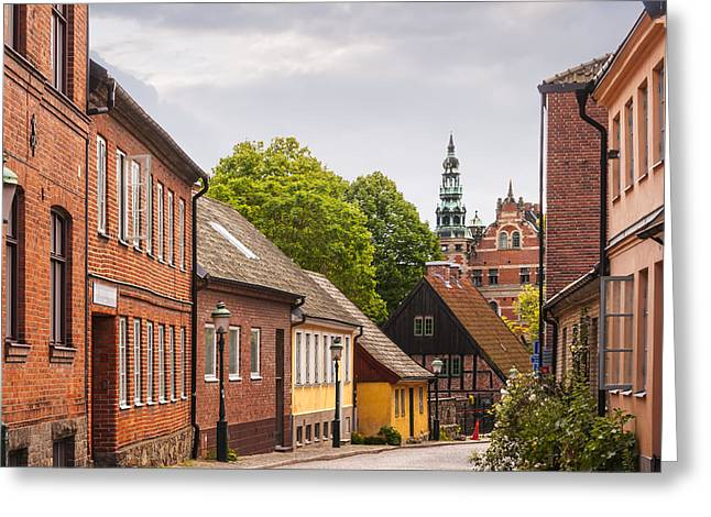 Residential Structure Greeting Cards - Roads of lund Greeting Card by Antony McAulay