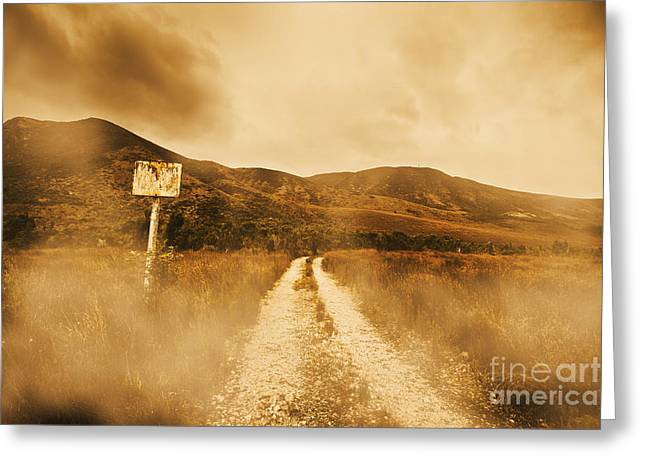Roads Of No Return Greeting Card by Jorgo Photography - Wall Art Gallery