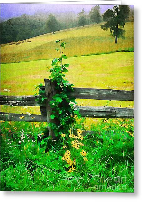 Recently Sold -  - Blooms Greeting Cards - Roadside Beauty Greeting Card by Darren Fisher