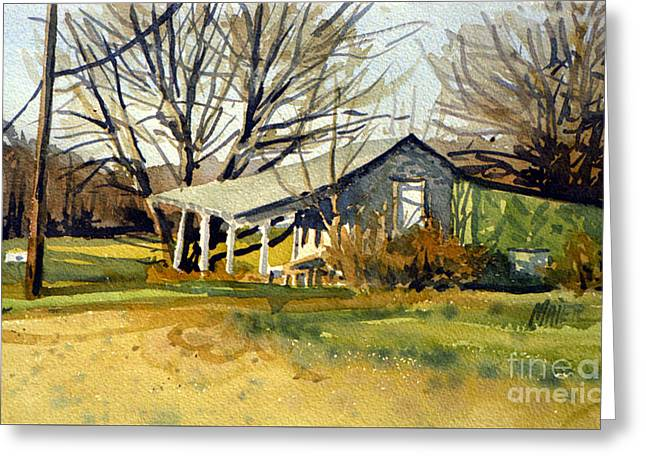 Roadside Stand Greeting Card by Donald Maier