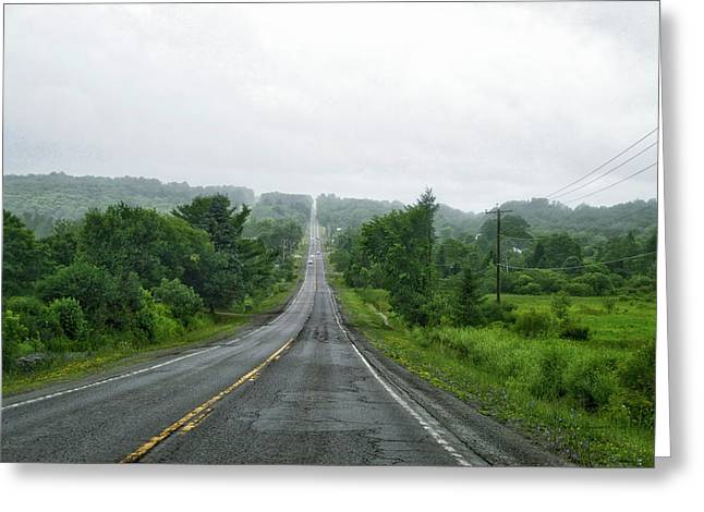 Roadway Fingers Lakes New York Area Greeting Card by Thomas Woolworth