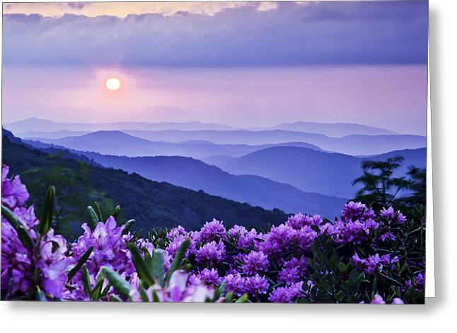 Mountain View Greeting Cards - Roan Mountain Sunset Greeting Card by Rob Travis
