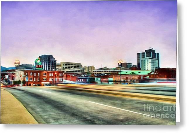 Roanoke Greeting Cards - Roanoke Virginia Greeting Card by Darren Fisher