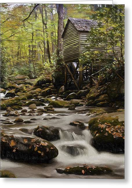 Roaring Fork Grist Mill Greeting Card by Jonas Wingfield