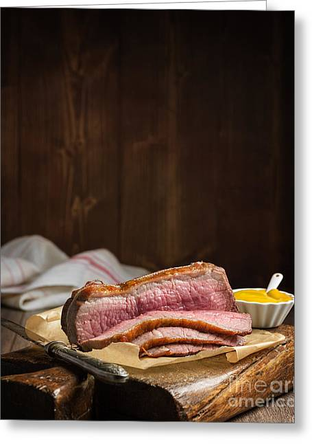 Roasted Greeting Cards - Roast Beef Greeting Card by Amanda And Christopher Elwell