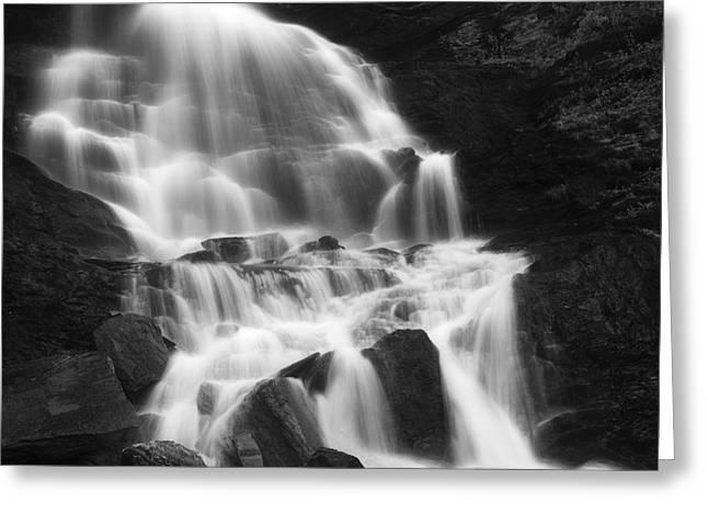 Nordland County Greeting Cards - Roasto Waterfall In Nordland, Norway Greeting Card by Arild Heitmann