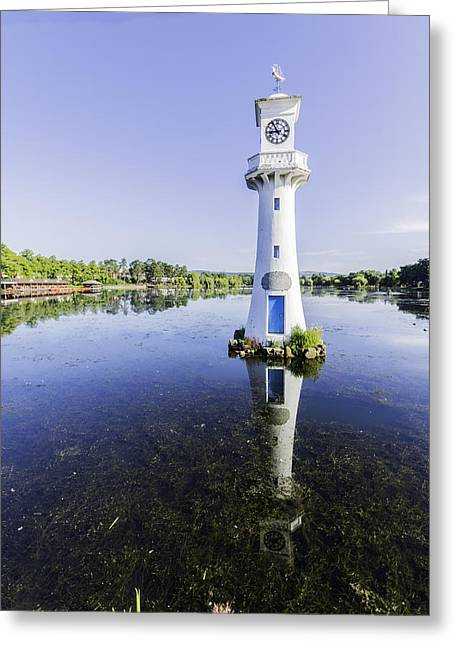 Fishing Boats Greeting Cards - Roath Park Lake 5 Greeting Card by Steve Purnell