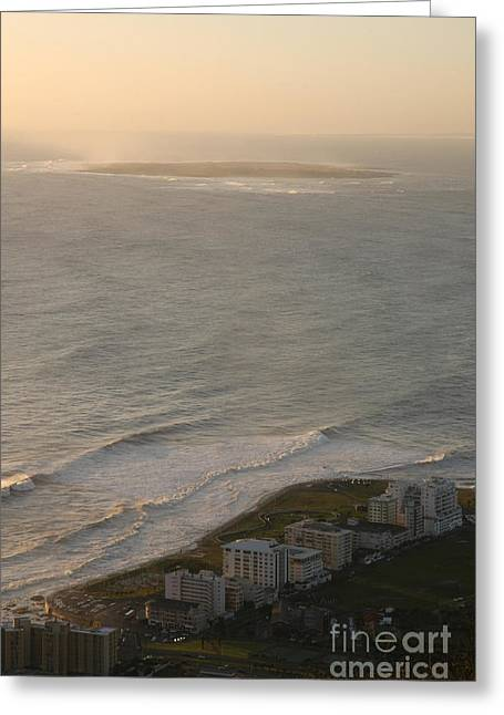 Cape Town Greeting Cards - Robben Island Greeting Card by Andy Smy