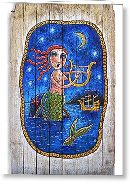 Robben The Mermaid Of Table Bay Greeting Card by Adam Carnegie